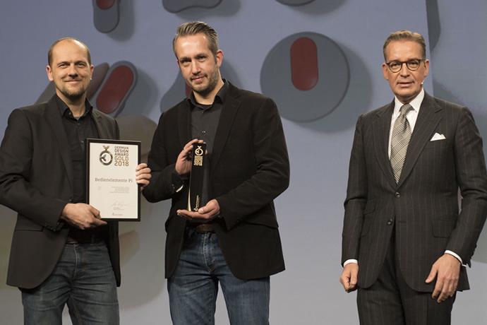 German Design Award Gold for the operating elements Pi range