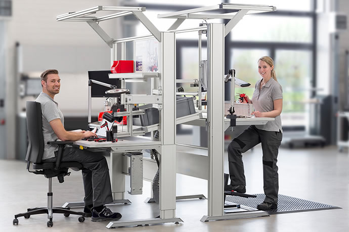 Ergonomic work benches have arrived in Silicon Valley