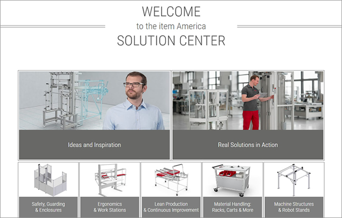 Introducing the item Solution Center