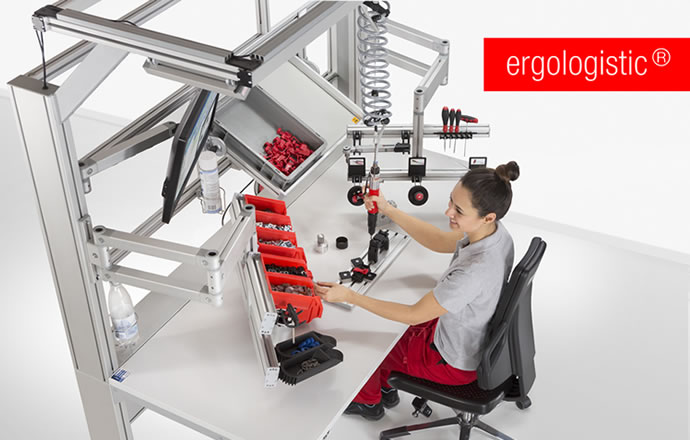 Ergonomic work benches and efficient intralogistics: Solutions in perfect harmony.