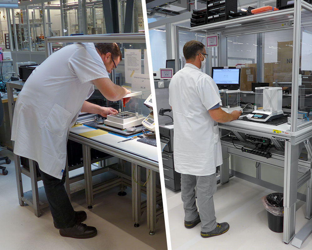 Weighing Tables Made Ergonomic